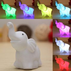 Cheap toy light, Buy Quality led toys directly from China led toy lights Suppliers: LED Toys Elephant Night Light Lamp Colorful Changes Children's Toys Lights For Party Room Decoration Sleep Light Elephant Colour, Elephant Theme, Elephant Love, Elephant Nursery, Girl Nursery, Elephant Stuff, Sri Lanka, Baby Elefant, Shower Bebe