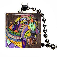 Jewelry Dog  Irish Wolfhound Dog Art Gift by HeatherGallerArt, $28.00