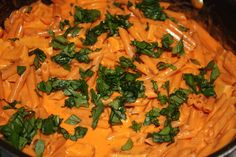 Red Lentil Pasta with Red Pepper Cream Sauce