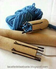 Simple way to make a knitting doll using hairgrips. No sharp pins. A long length… – spool knitting ideas Spool Knitting, Knitting Stitches, Knitting Patterns, Crochet Patterns, Diy Knitting Nancy, French Knitting Ideas, Knitting Projects, Crochet Projects, Knitting Supplies