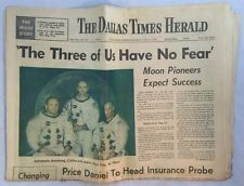 7-15-1969 Dallas Times Herald Newspaper Apollo 11 Astronauts Have No Fear