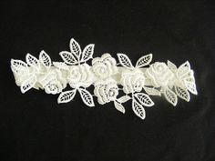 White/Ivory/Black/Rose Lace Handmade Wedding Garter by CeAndBo