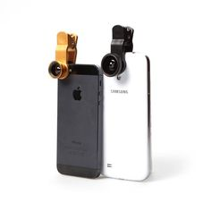A universal 3-in-1 clip-on Fish-Eye, Wide-Angle & Macro camera lens for iPhone, iPad, Samsung Galaxy and most mobile devices. Available from iToys.co.za Macro Camera, Camera Lens, Latest Camera, Wide Angle, Phone Cover, Shutter, Apple Iphone, Bluetooth, Ipad