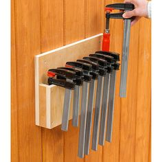 Easy-Store Clamp Rack Woodworking Plan, Workshop & Jigs Jigs & Fixtures Workshop & Jigs $2 Shop Plans