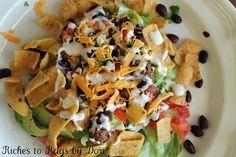 Fritos Taco Salad. Easy, family favorite.