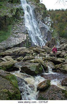 Powerscourt Waterfall, County Wicklow, Republic of Ireland ...
