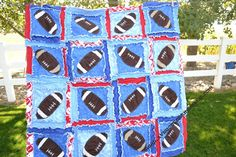 RAG QUILT Football Applique by avisiontoremember