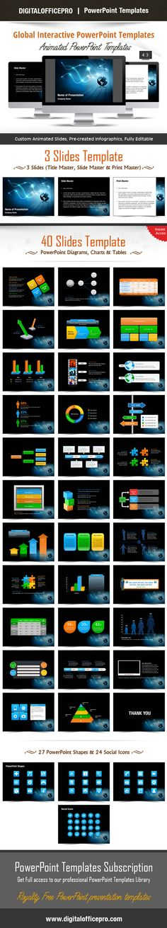 Global Business Environment Powerpoint Template Backgrounds
