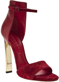 Love this: Casadei Chamois Leather Sandal @Lyst