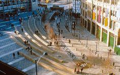 Landscape Architecture by Martha Schwartz… Landscape Plaza, Landscape Lighting, Urban Landscape, Landscape Architecture, Landscape Elements, Landscape Designs, Area Urbana, Sloped Garden, Composition Design