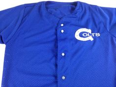 Indianapolis Colts Jersey Sports Belle Mens Small USA Made Button Up NFL http://www.ebay.com/itm/-/252697176518?roken=cUgayN&soutkn=EhCfby #bogo #vintage #coltsnation #indy #football