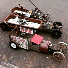 Not a Radio Flyer, but a start to a rat rod lowered slammed swap meet custom wagon