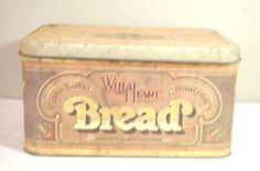 Vintage Wheat Heart Bread Box Tin Old Country Store Style 1979 Farmhouse Find…