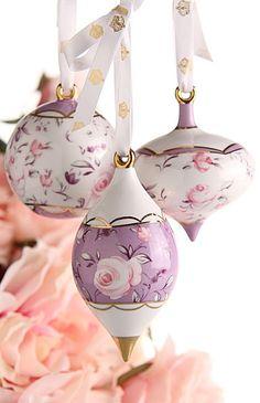 Royal Albert Rose Confetti Ornaments, Set of 3