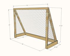 Use soccer goal for gardening. Put against the house to keep critters out! Woodworking Projects Diy, Woodworking Furniture, Diy Wood Projects, Home Projects, Hockey Goal, Lacrosse, Street Hockey, White Farmhouse Table, Diy Crafts