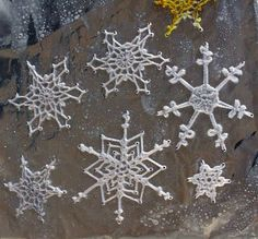 Crocheted Snowflakes - if i ever learn to crochet, i'm def making these!