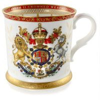 Her Majesty's Coronation Official Commemorative Range. Commissioned by Buckingham Palace to celebrate the anniversary of the Coronation of Her Majesty Queen Elizabeth II. Elizabeth Ii, Palais De Buckingham, Queen's Coronation, Royal Collection Trust, English Pottery, English China, 22 Carat Gold, Bow Bracelet, Online Gift Shop