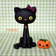 Halloween Cat tutorial for fondant / sugarpaste