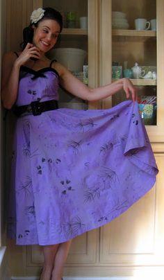 vintage dress dyed