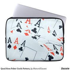 Quad #aces #poker Cards Pattern, #laptopsleeve
