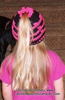 free crochet pattern ponytail hat