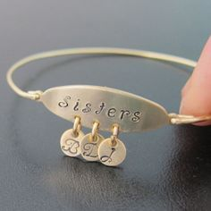 Personalized Sister Bracelet Personalized Sister by FrostedWillow, $39.95