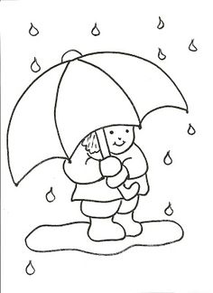 Mickey Mouse Umbrella Was Wearing A Rain Coloring Pages