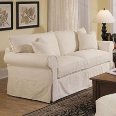 Add an understated touch of style to your master suite or living room with this lovely sofa, perfect when topped with a velvet throw and patterned pillows.