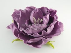 роза из фоамирана по цельному шаблону, фото