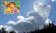 Cloud shaped exactly like Winnie the Pooh