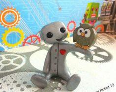 Grey Owl roca mascota este búho está listo por PaintedRocksbyShelli