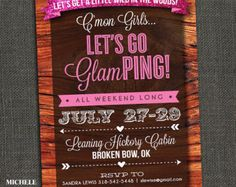 glamping party | Woodsy Glamping Sleepover - Bachelo rette Party - or - Birthday Party ...