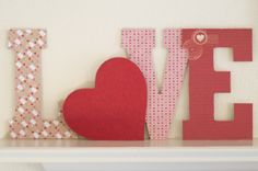 Make a statement this Valentine's with this easy DIY Decoupage Valentine LOVE Letters craft, perfect for displaying on a mantle or shelf. My Funny Valentine, Saint Valentine, Valentine Day Crafts, Valentine Decorations, Happy Valentines Day, Valentine Ideas, Easy Diy Decoupage, Crafts To Make, Diy Crafts