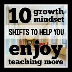 Cultivate a growth mindset and enjoy teaching more