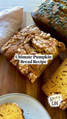 Fall Dessert Recipes, Fall Recipes, Delicious Desserts, Yummy Food, Fun Baking Recipes, Healthy Baking, Cooking Recipes, Banana Bread Recipes, Pumpkin Recipes