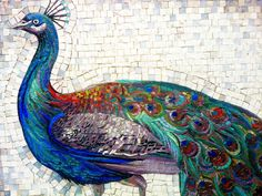 Iulian Emil Moldovan - mosaic peacock