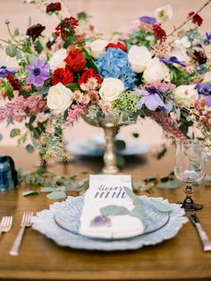 lovely wedding centerpiece; photo: Daniel Kim Photography