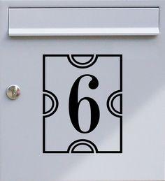 Hausnummer einstellig 01 - Briefkastentattoo - Wunschzahl, Wunschfarbe - von Design Out Of Norm