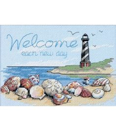 Dimensions Welcome Each New Day Mini Counted X-Stitch, , hi-res