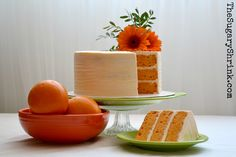 Orange. Cake. Buttercream. Fiesta Ware. Poppy. Chartreuse.
