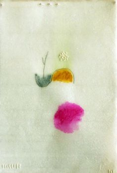 Spring Mediation no.9 / Mixed Media on Japanese Paper