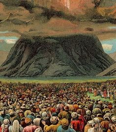 Moses brings the people to the foot of Mount Sinai where the Law (the Ten Commandments) is given and the covenant is established between God and the newly formed nation of Israel (Exodus 19 - 24). Description from praiseinaction.blogspot.com. I searched for this on bing.com/images