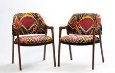 Pattern People:  Interiors   Madeleine Weinrib meets Mid-Century Chairs
