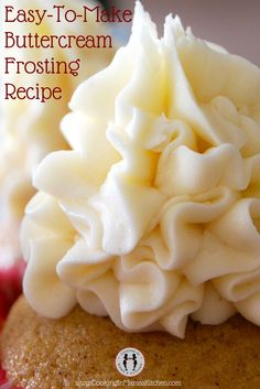 How To Make Buttercream Frosting (Chocolate and Vanilla). This Is an Easy Buttercream Frosting Recipe. Great on any dessert cake or cupcake! CLICK for recipe:  http://www.cookinginmamaskitchen.com/easy-buttercream-frosting-recipe-vanilla-and-chocolate/