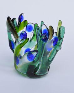 Fused Glass Tea Light Holder Amanda Pullin: http://www.ebay.co.uk/sch/amao1202/m.html