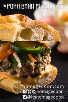 This Pork Banh Mi Burger has all the flavors of a modern Vietnamese classic in burger form! Possibly the best burger you'll ever make