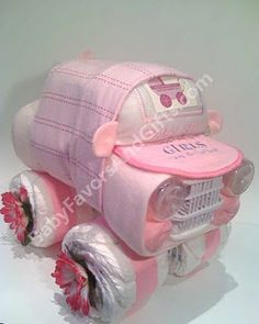 Diaper car... wonder if I could figure out how to make it.