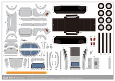 Blog Paper Toy papercraft Fiat 500F grey template preview Papercrafts Fiat 500 (x 6)