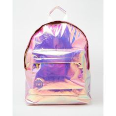 Mi-Pac Backpack in Hologram ($65) ❤ liked on Polyvore featuring bags, backpacks, backpack bags, rucksack bag, hologram bags, knapsack bag and holographic bag