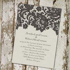 Lace Wedding Invitations-Best Choice for Vintage and Rustic Weddings |